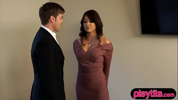 Busty real estate agent does everything for a sale