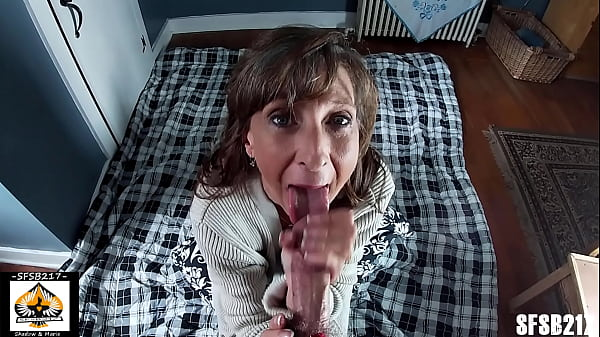 Petite Sexy Milf Sucks And Tugs A Thick Cock Sw...