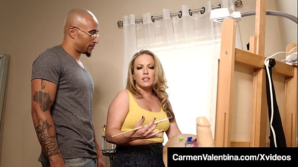 Big Black Cock Day With Carmen Valentina Getting Creampied!