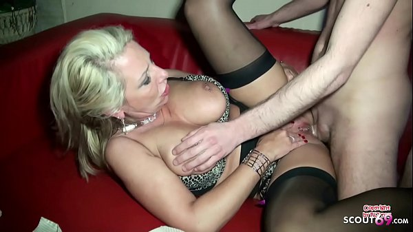 German Mom Fuck the Friend of her Son in his new Commune