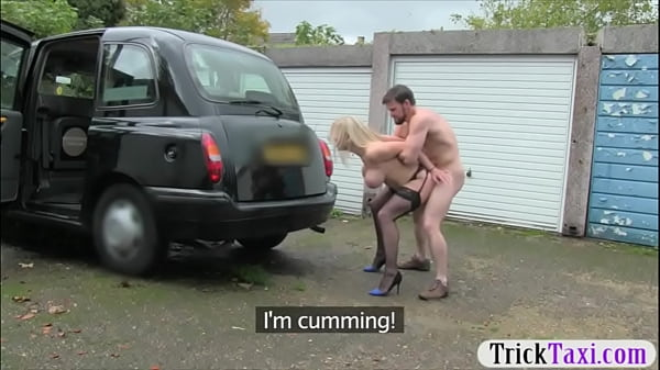 Huge boobs blond woman fucked in the cab