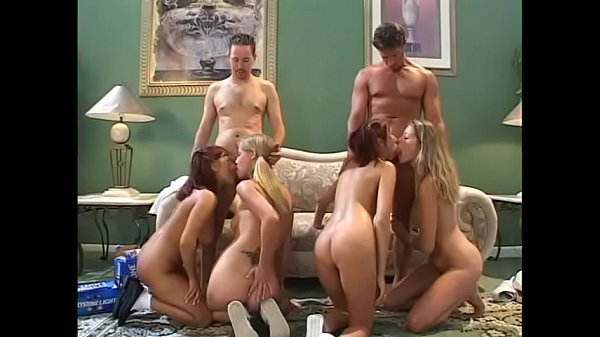 Randy cock sucking babes gets fucked by 2 guys in group sex then jizzed