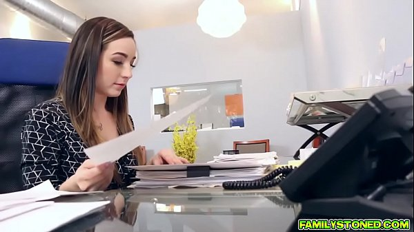 Bambi Brooks sucks and gags her Dads big cock