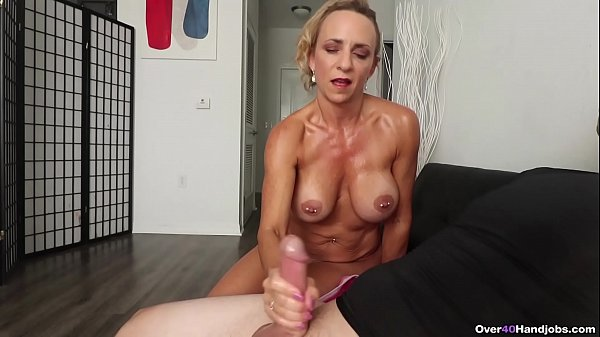Milf Kenzie made him SPURT - Over40Handjobs