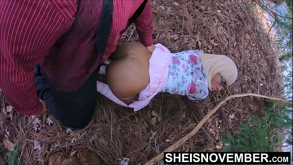 On Forest Pine Needles Nailing My Wife Daughter Like A Dog On All Four, Cute Blonde Ebony Msnovember Hardcore All4 Doggystyle Outdoors, By Horny Dadd In Law BBC, Skirt Pulled Up Grabbing Her Hips on Sheisnovember