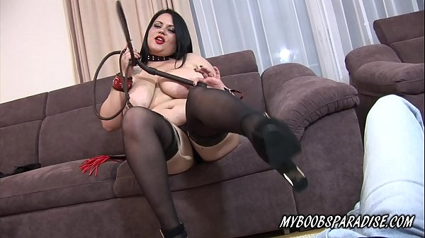 Busty Katie Black dominate you and give you instructions