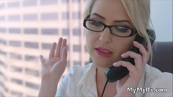 Busty MILF principal craves for cock in her office