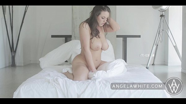 ANGELA WHITE - Big Natural Tits Masturbation and Pillow Riding