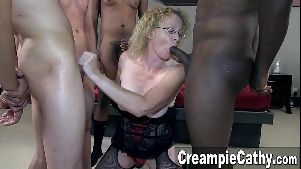 Creampie Gangbang For Mature MILF Thumb