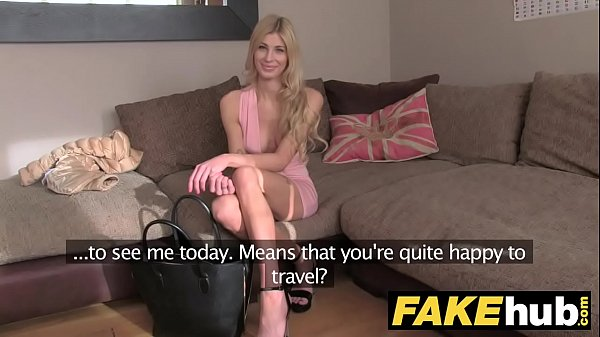 Fake Agent UK Blonde orgasms from hard finger b...