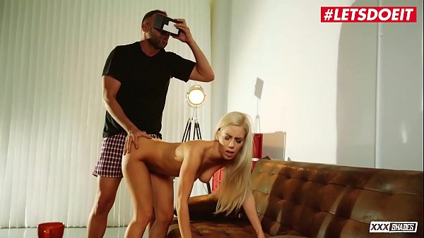 LETSDOEIT - Sweet Blondie GF Nesty Fucked By BF While He's Watching VR Porn