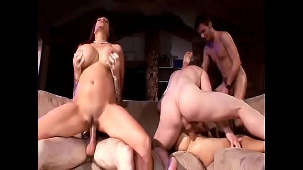 Big tits and big ass girl get all holes drilled hard doggy style on the couch Thumb