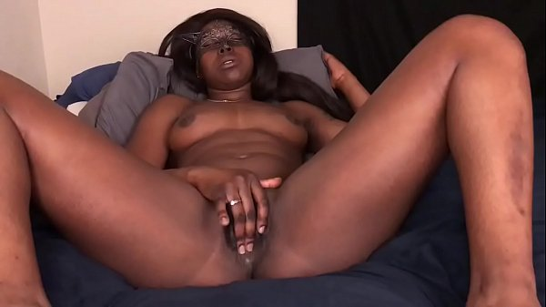 Black Teen Masturbates Until Cumming