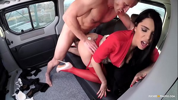 VIP SEX VAULT - Russian Brunette Babe Kira Queen Gets Banged In The Car