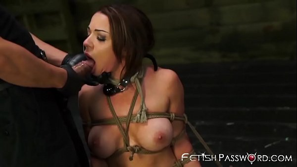 Curvacious 18yo Kylie Rogue hammered with cock in dungeon