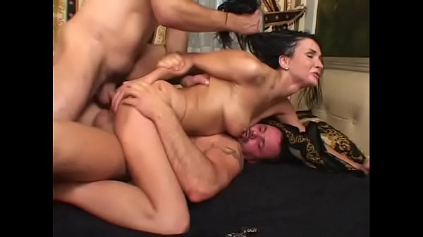 Brunette cougar Sandra Kay gets double penetration fuck