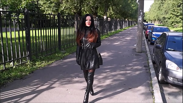 Best Mom Flashing Leather gloves boots. See pt2...