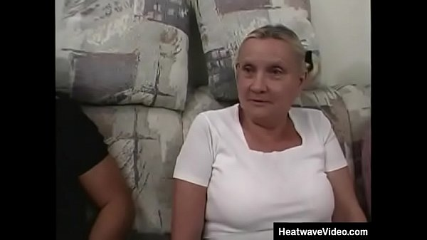 Busty grandma looks slightly ridiculous in her ...