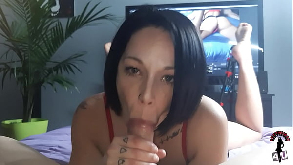 She Finishes her Boyfriend Big Cock POV Blowjob Thumb