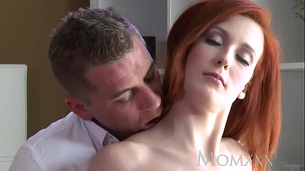 MOM Stunning Milf Redhead has her tight shaved pussy filled up