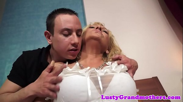 Chubby granny fucked in lingerie
