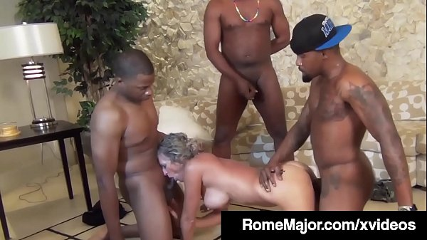 Black Gang Bang! Rome Major & 3 Bros Fuck White Jade Jamison Thumb