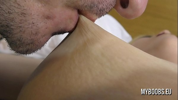 Sucking and lick nipples Aqua Pola from soft to...