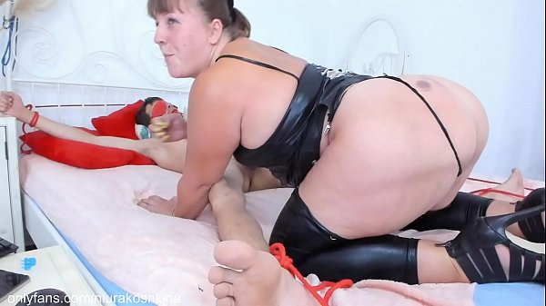 FEMDOM:Chubby Stepmom Niurakoshkina Dominates Her Stepson.Gives him a blowjob, fucks his cock and makes him CUM.