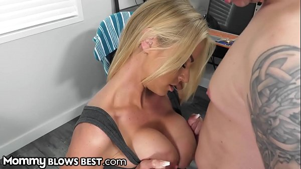 MommyBlowsBest - Stepmother Catches Me Spying O...