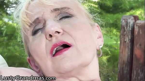 LustyGrandmas Mature GILF Loves It Doggy With His Big Cock Down Her Hole