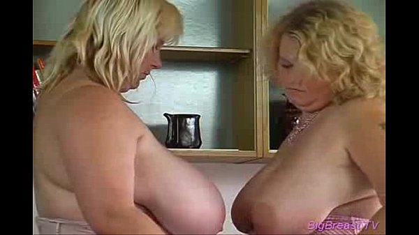 Big breasts babe licking pussy