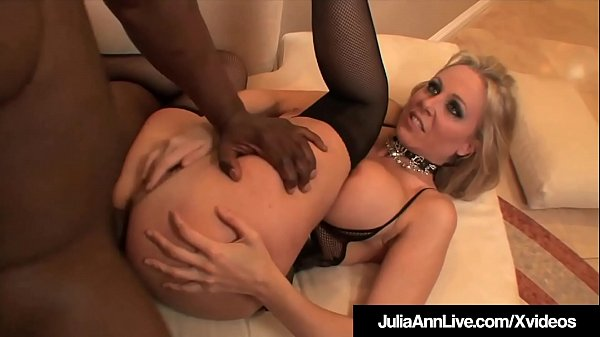 Milf Julia Ann Anal Pounded & Cummed On By 4 Big Black Cocks