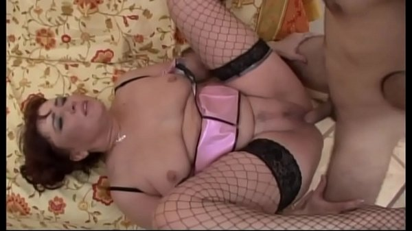 Horny milf in fishnet stockings banged like a bitch Thumb