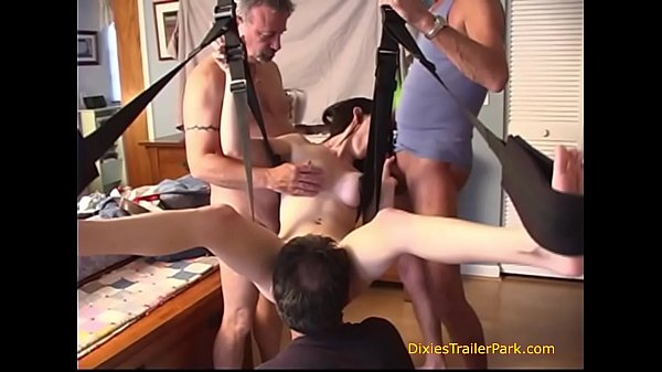 Daddy and His Friends Fuck Me in the SEX SWING