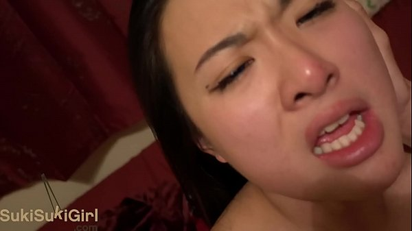 BLUE Eyes Asian Moaning for Creampie & THROATFUCKS his cock WMAF