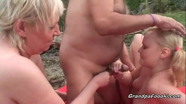 Slutty Blonde Gets Seduced By Horny Mature Couple