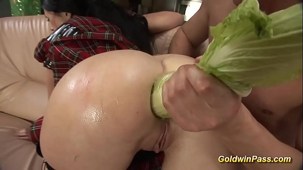 skinny babe gets extreme rough anal fucked