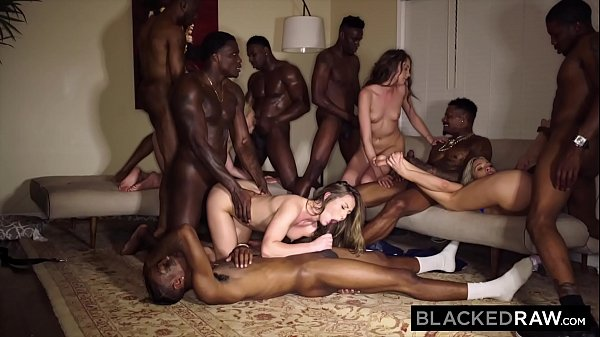BLACKEDRAW Four College Girls In INSANE BBC Gan...