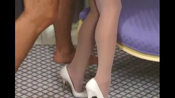 MILF in a bustier and white stockings having sex