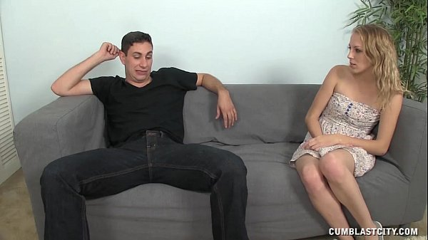 Huge facial cumshot for the hot blondie  thumbnail