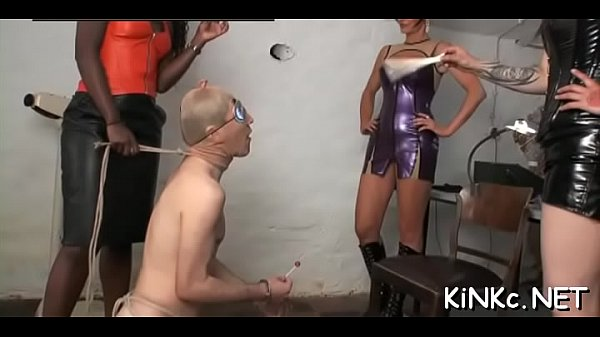 Honey makes slave waiter on her
