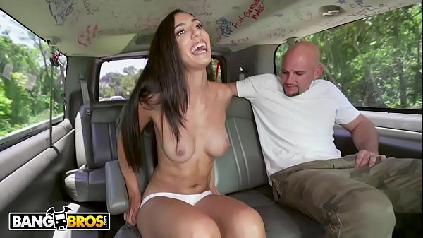 BANGBROS - Pretty Latina Angelica Cruz Gets Her Pussy Stetched By J-Mac On The Bang Bus Thumb