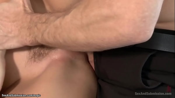 Beautiful brunette dominated and fucked