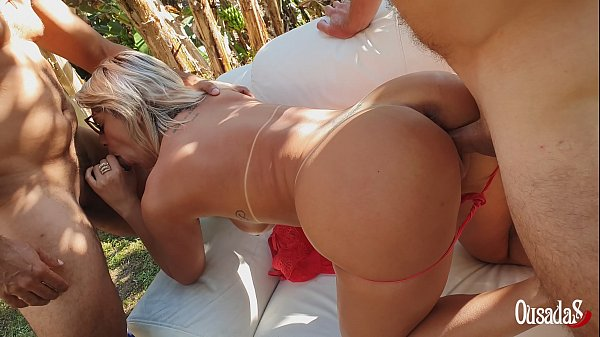 Trailer - Katharine Madrid makes her first double penetration and takes a cumshot inside her ass - Tony Tigrao - Vagninho Thumb