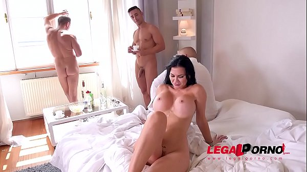 Cum-hungry busty vixen Jasmine Jae got 3 cocks to suck & 3 holes to fill GP209