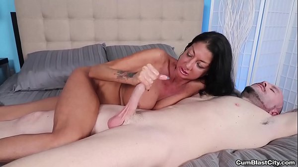 cumblast-Busty milf makes a cock explode with cum