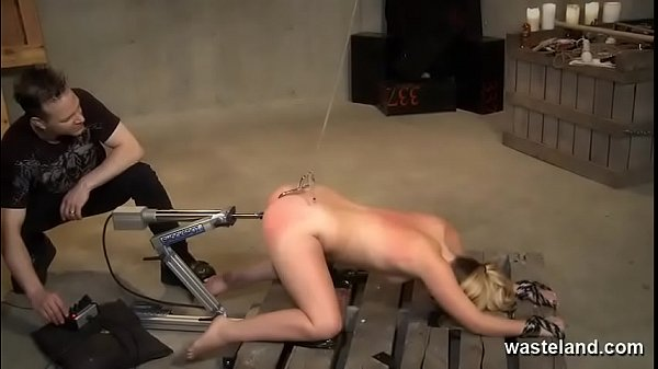 Wax and Machine Domination For Submissive Blonde