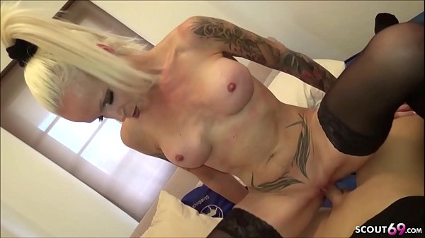 GERMAN BLONDE TEEN IN REAL AMATEUR SEX-TAPE IN KITCHEN
