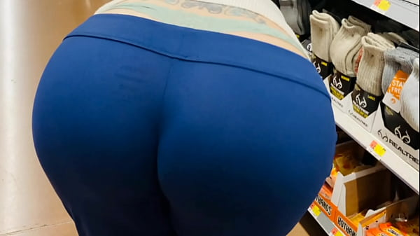 Mom Fat Booty Public Wedgie and Whale Tail Shopping Thumb
