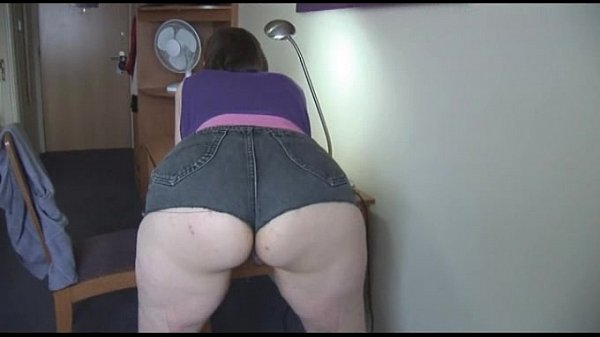 Busty Hairy Mature In Tight Shorts Posing